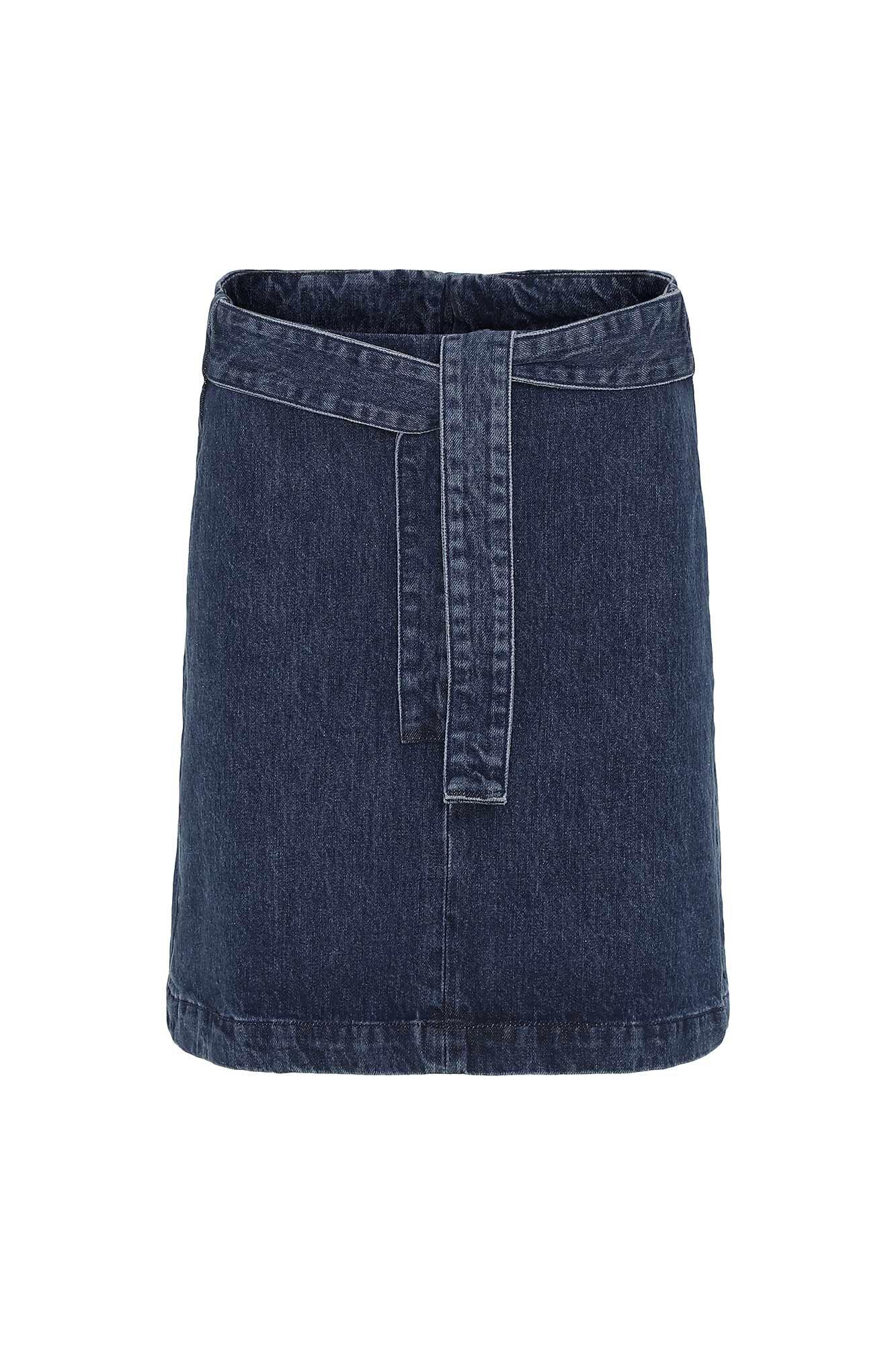 Sierra denim skirt 84039, MID BLUE