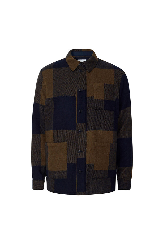 Jason wool check LMD640008, DARK NAVY/TURTLE GREEN