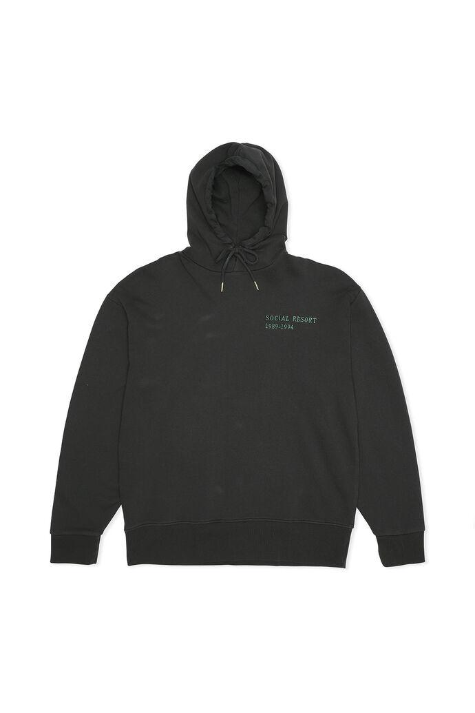Bulky hoodie M-130155, FADED BLACK