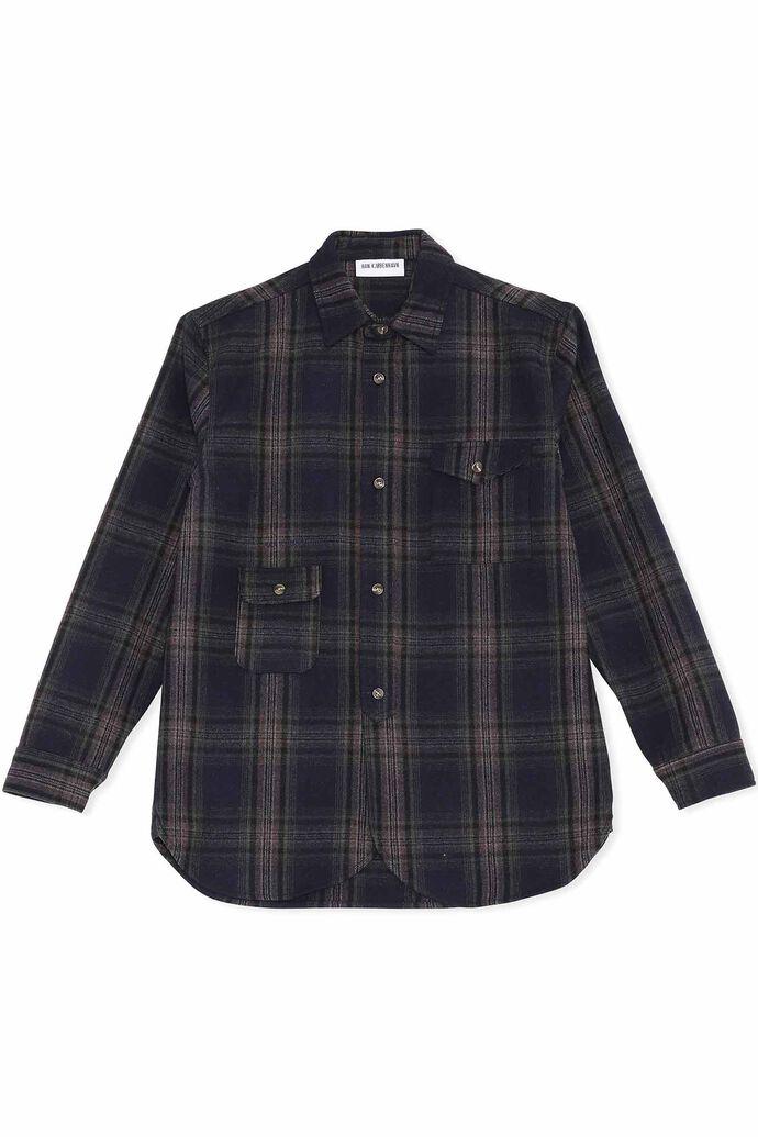 Army shirt M-130270, DARK CHECK
