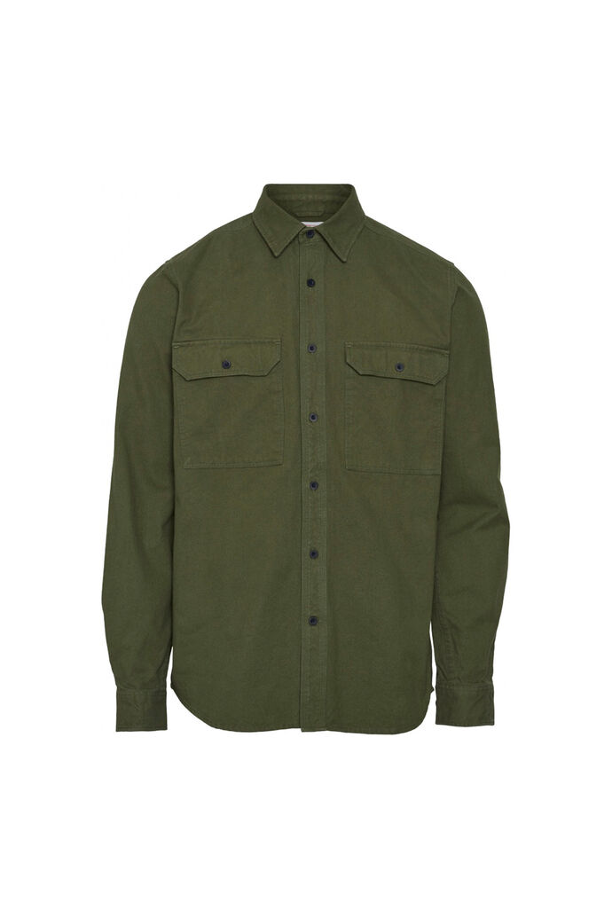 Long sleeve moleskin shirt, GREEN FOREST 1278