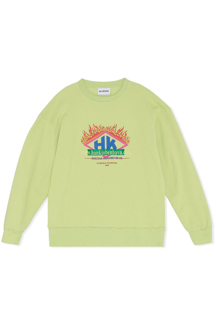Bulky crew M-130152, FADED LIME