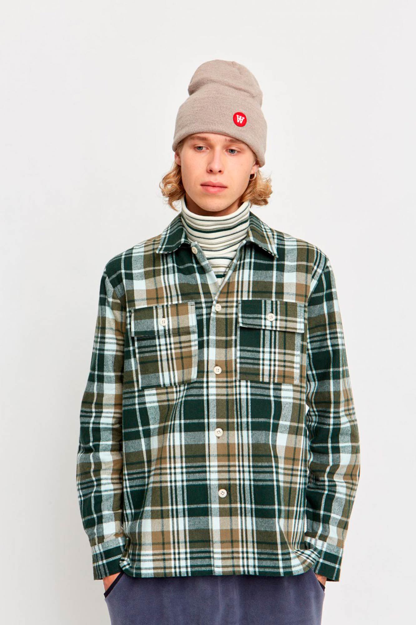 Franco shirt 11945302-5208, FOREST GREEN CHECK