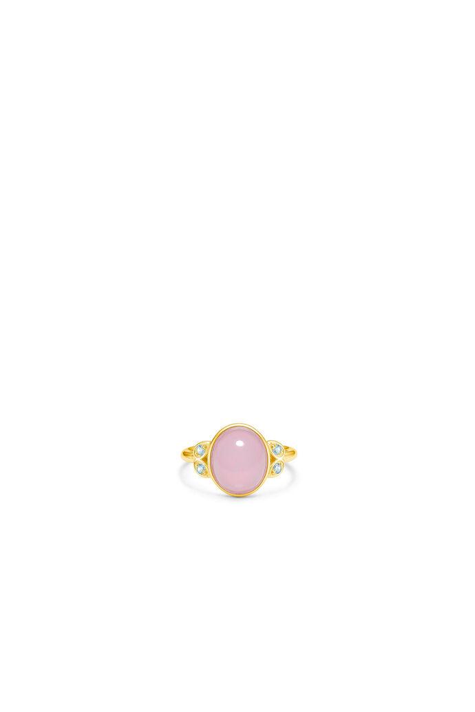 Magnolia oval ring IDR035GD, GOLD/ROSE