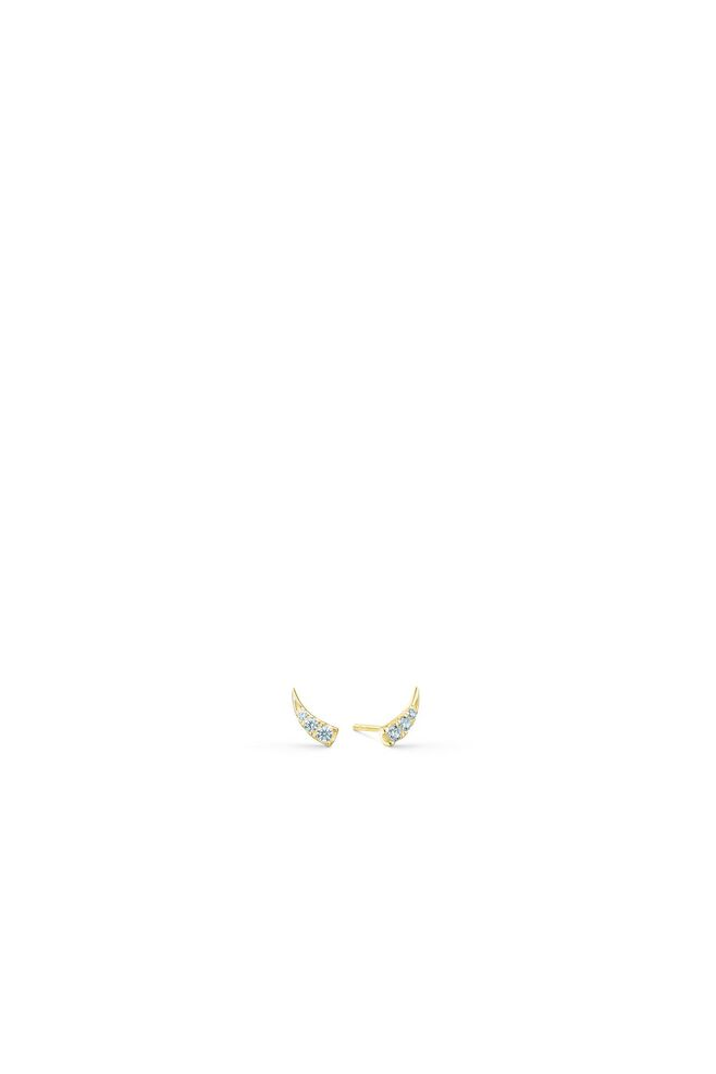 Glace earstuds IDS021GD, GOLD/WHIRTE