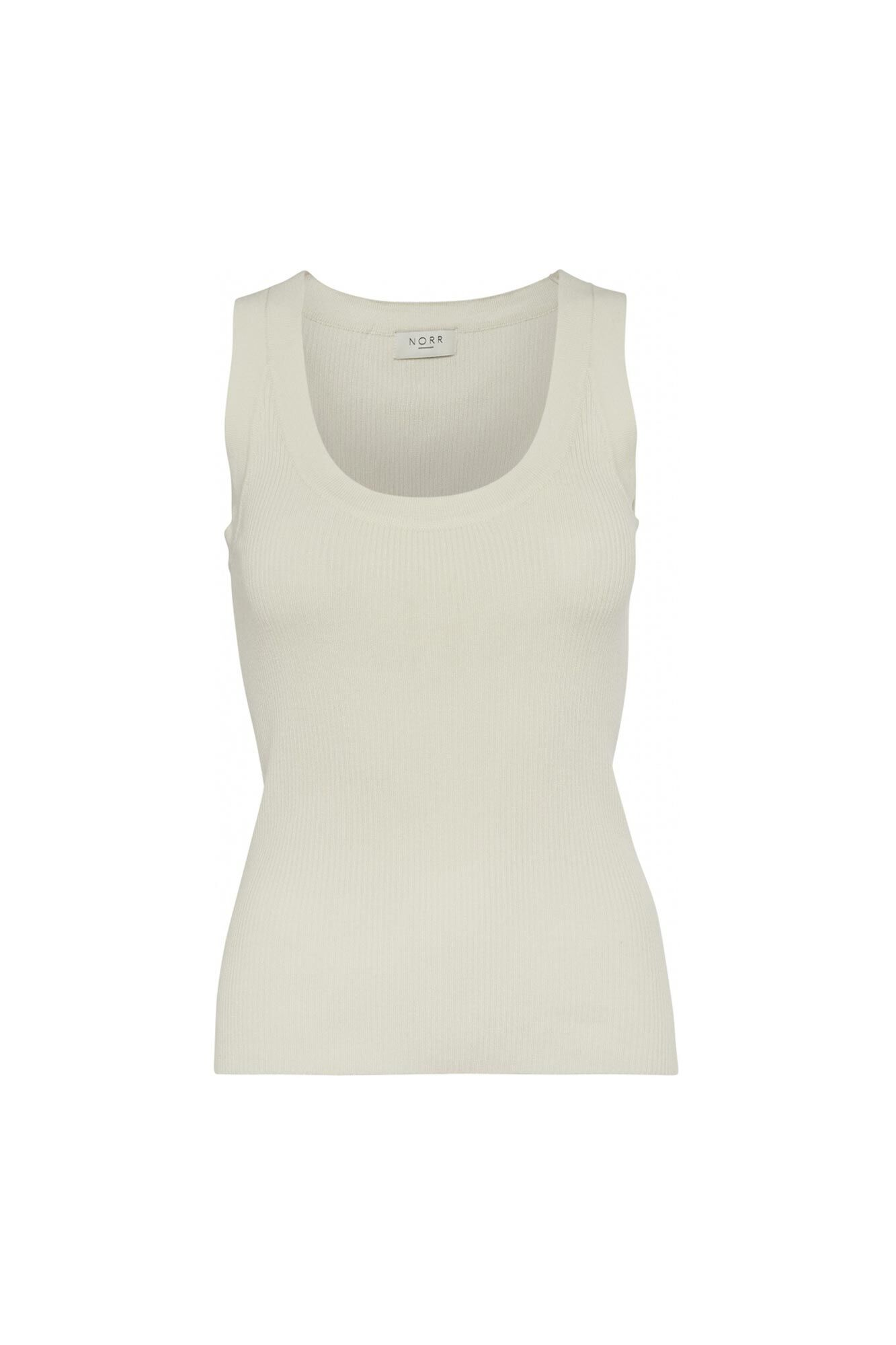 Kylie knit tank top 11861247, OFF WHITE