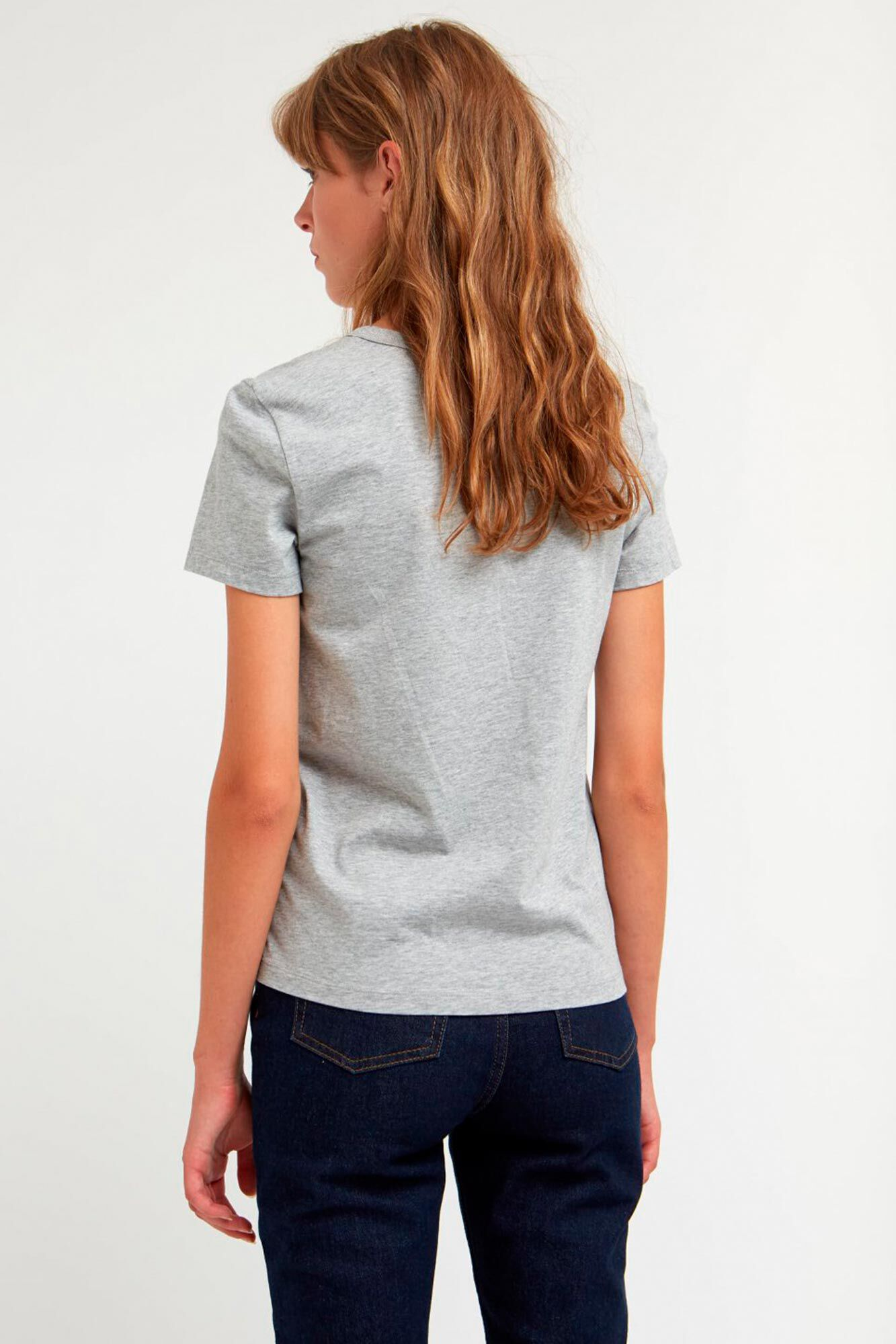 Uma t-shirt 10912502-2222, LIGHT GREY MELANGE