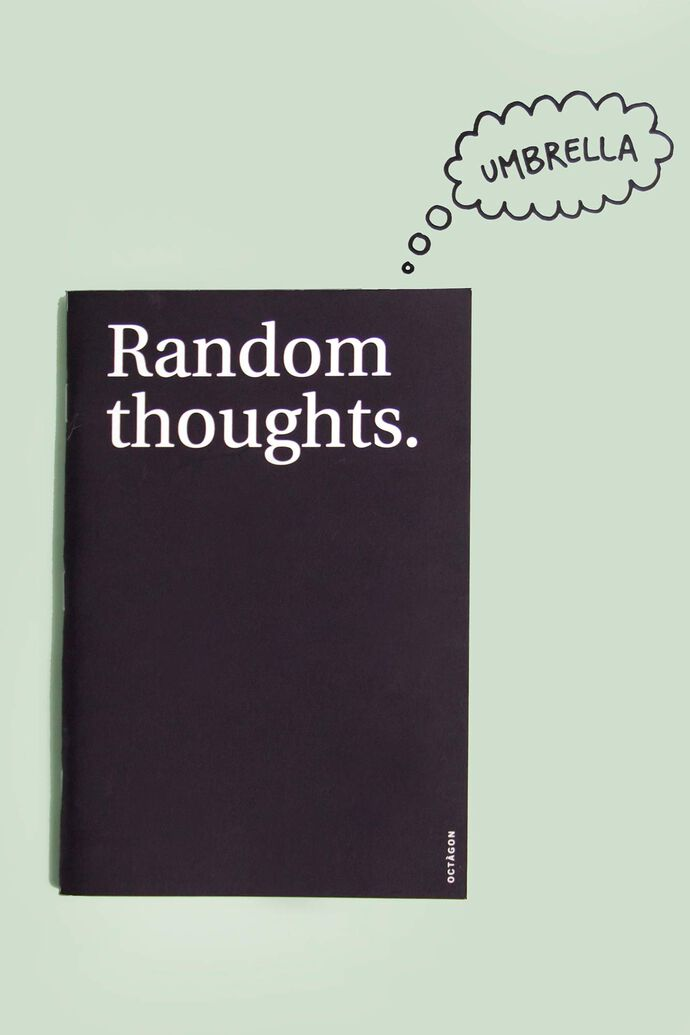 Random thoughts notebook 5, BLACK