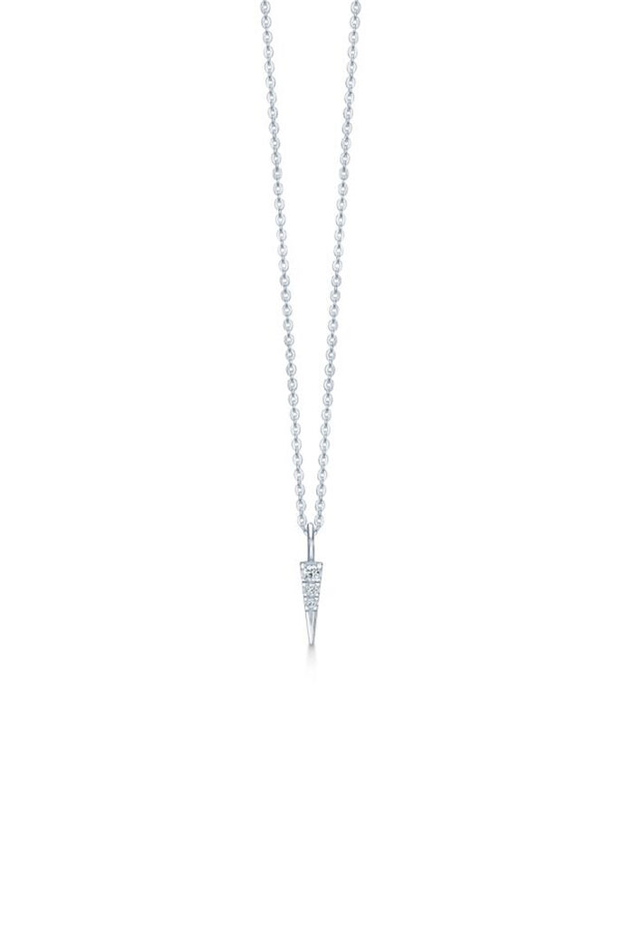 Glace necklace IDN013RH, RHODIUM/WHITE