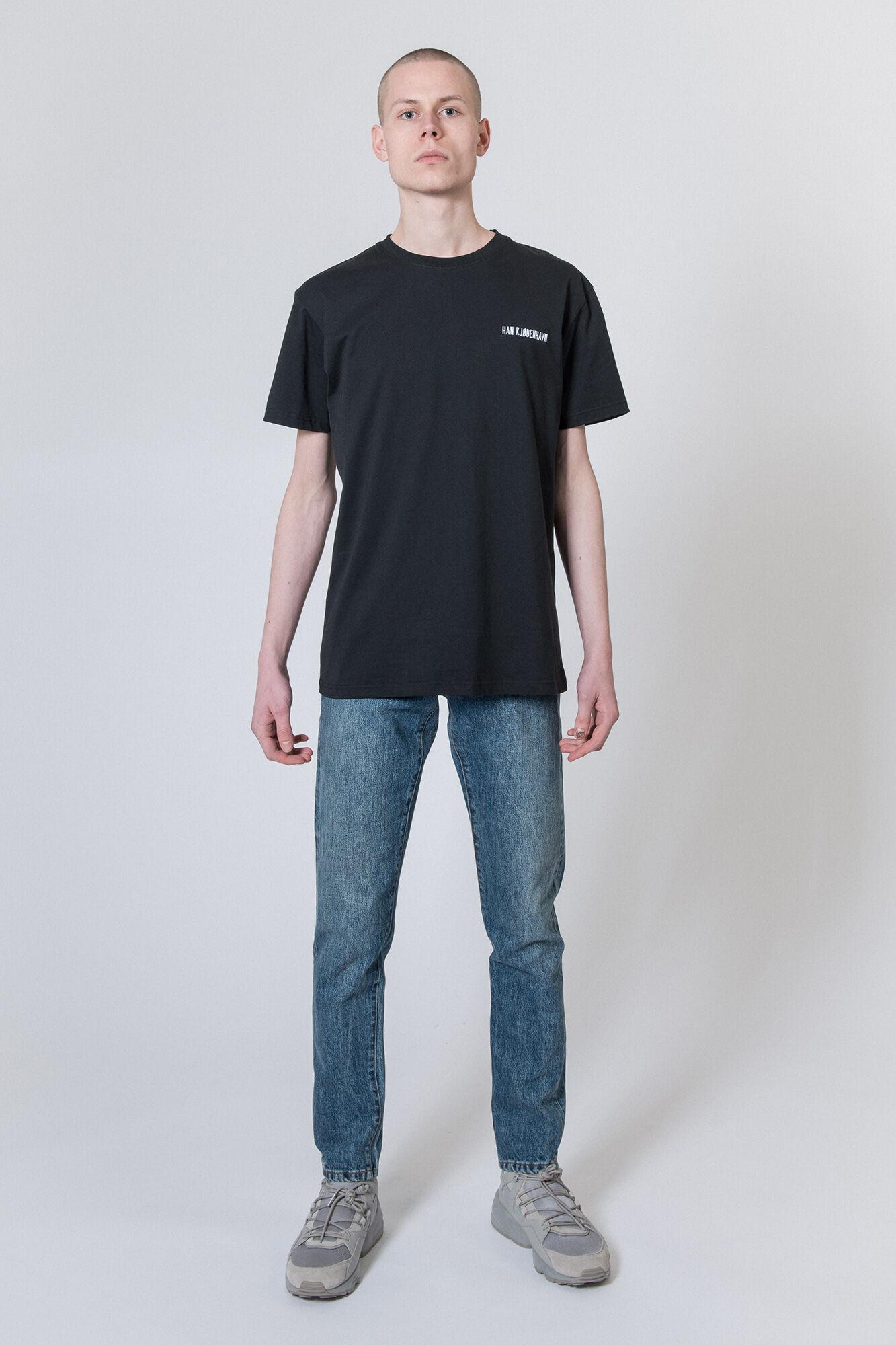 Casual Tee M-20001, BLACK LOGO