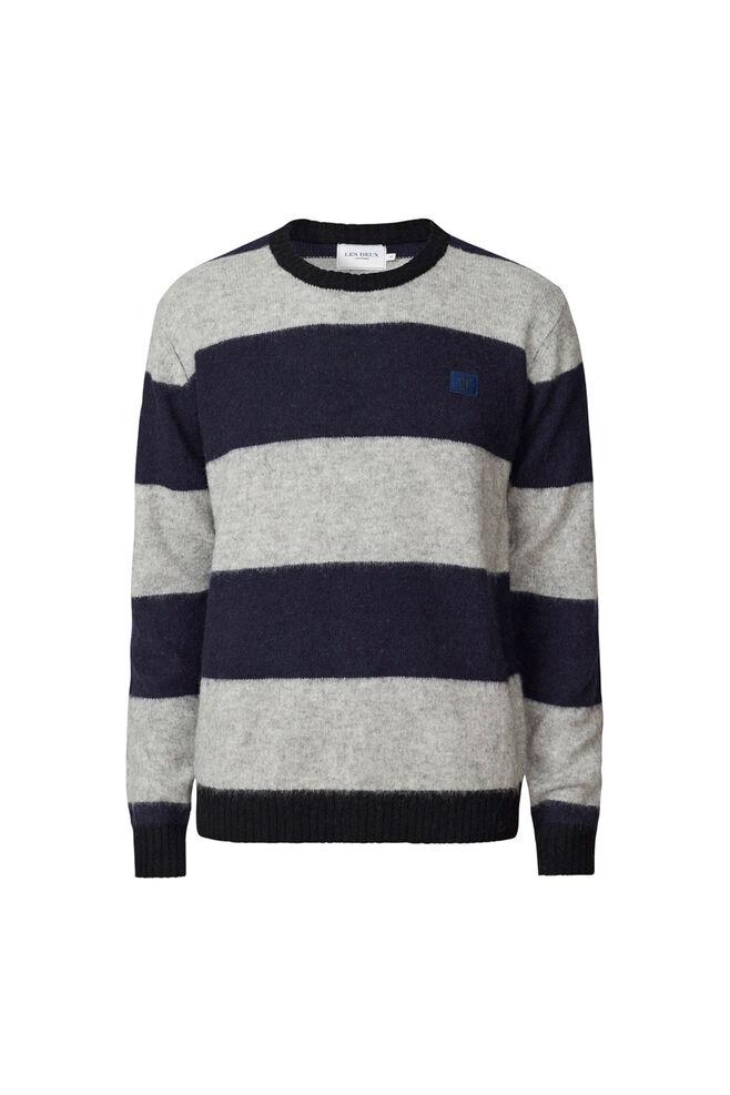 Joel wool knit LDM301026, DARK NAVY/GREY
