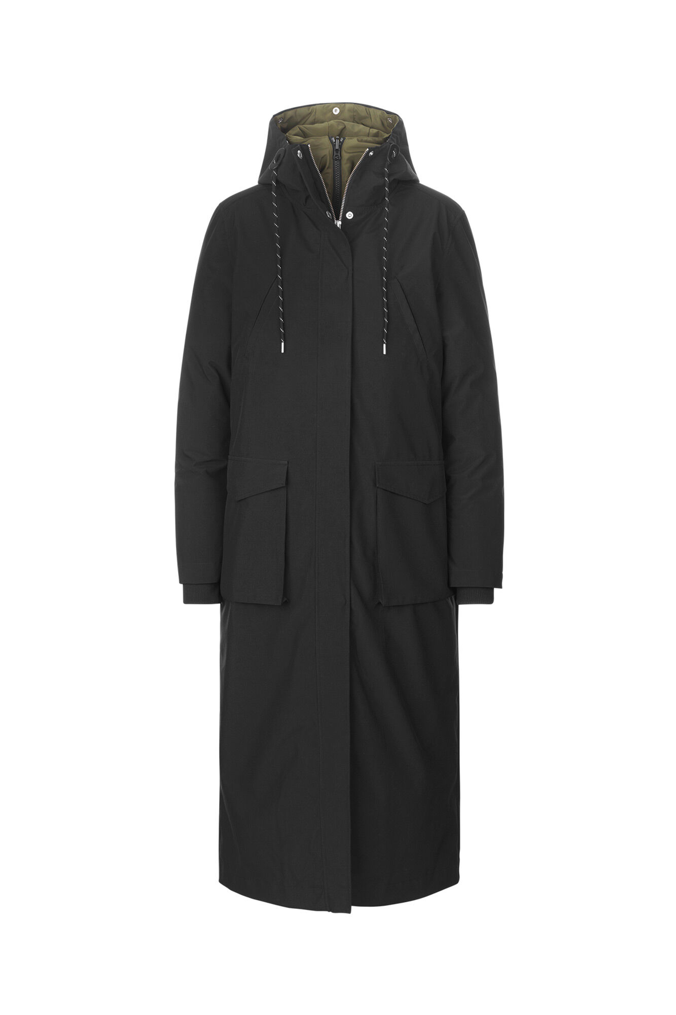 Pelly coat SM1003, BLACK
