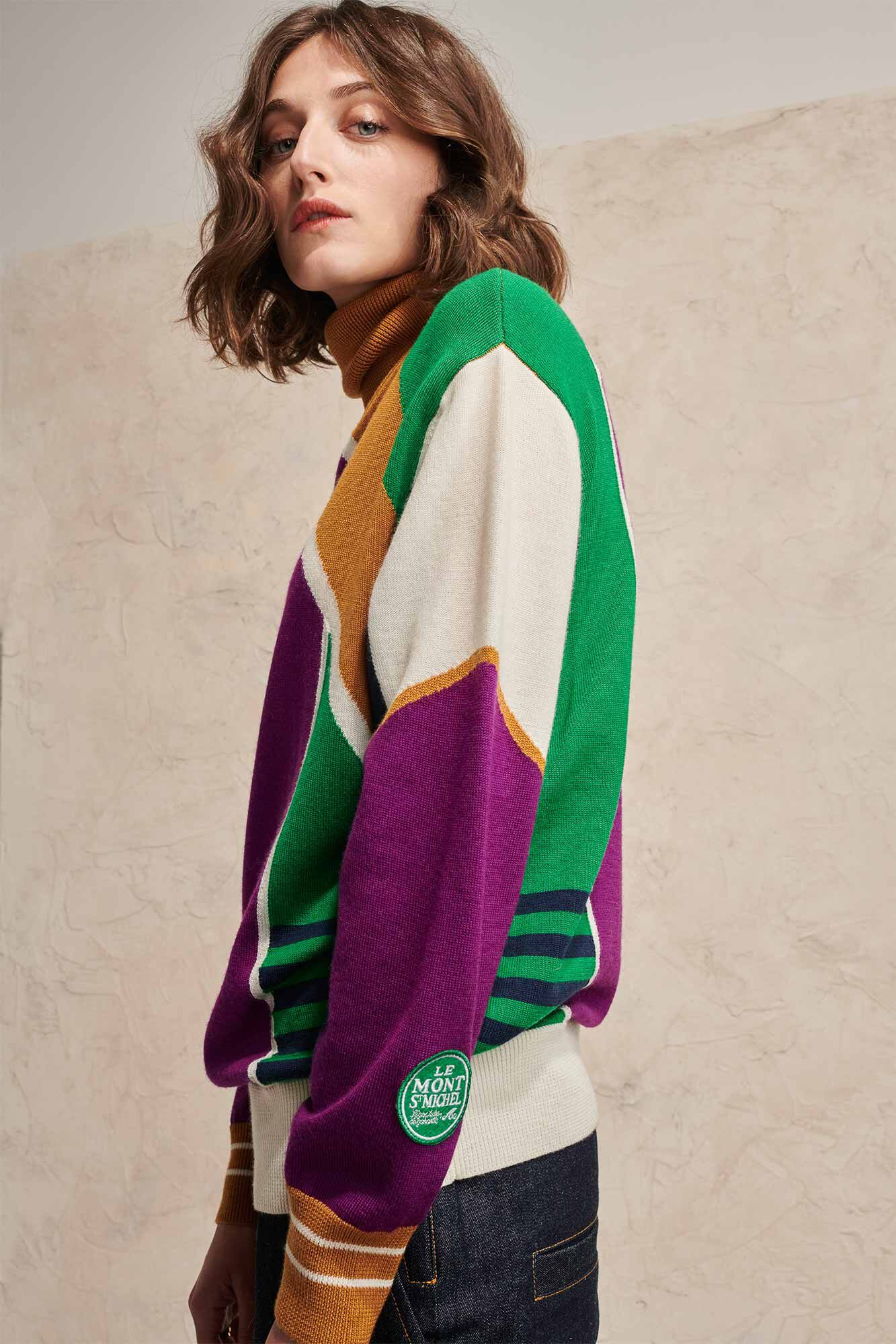 Soline graphical sweat 02208WS, OFF WHITE GROUND