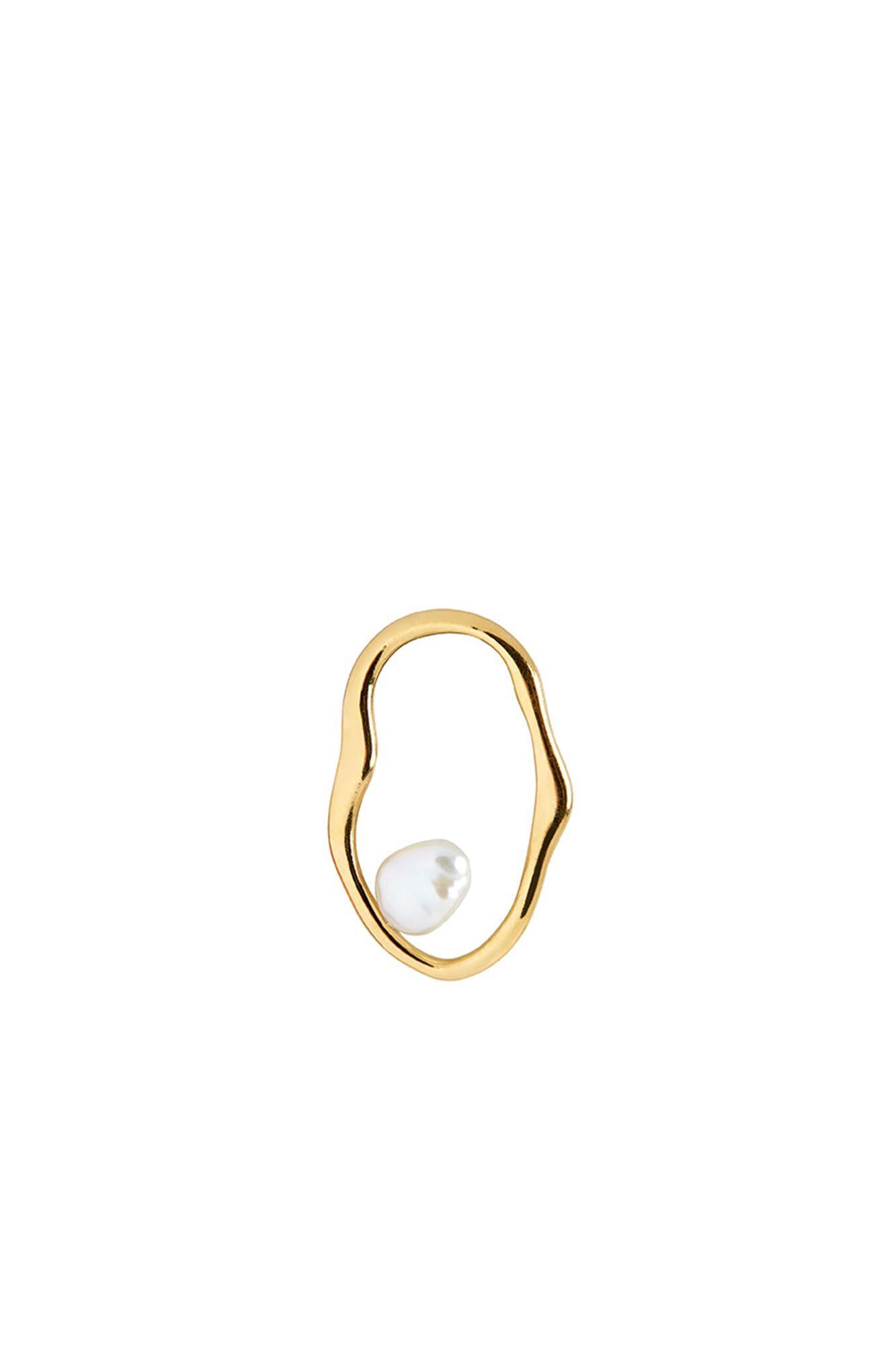 Nugget earring 100729YG, GOLD HP
