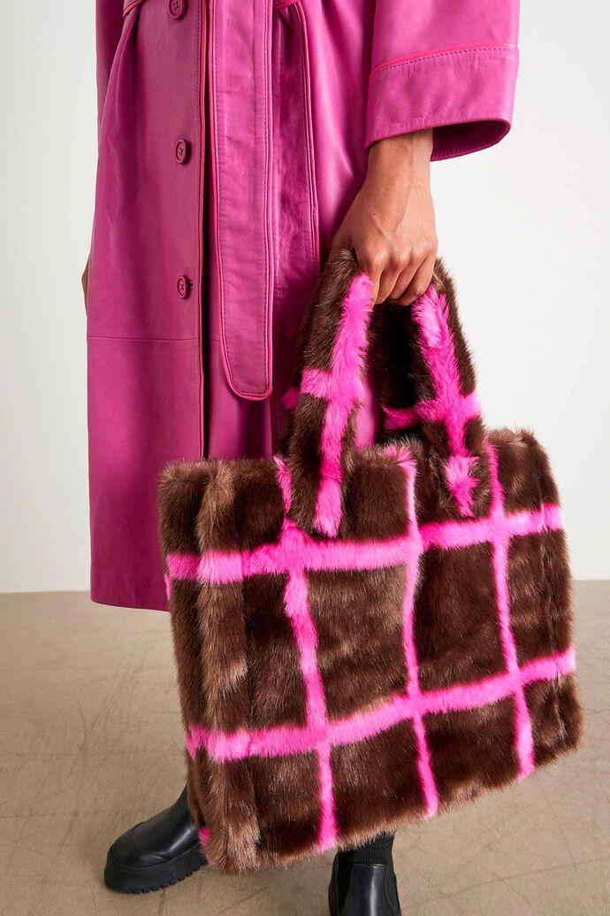 Lolita bag 60767-8450, MINK BROWN/FUXIA STRIPE