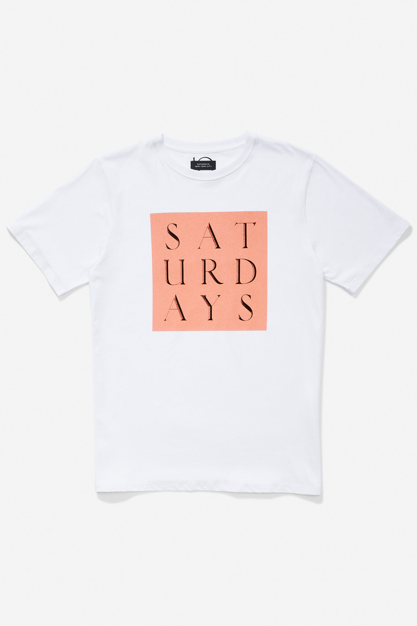Carved grid s/s tee, WHITE
