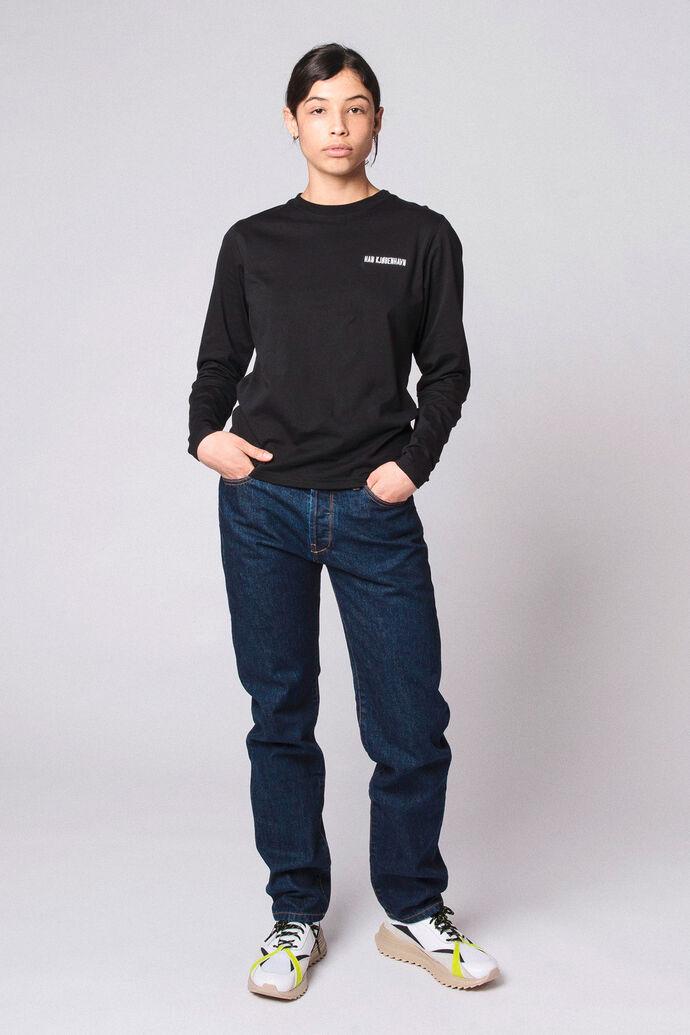 Casual Long Sleeve Tee F-20003, BLACK LOGO