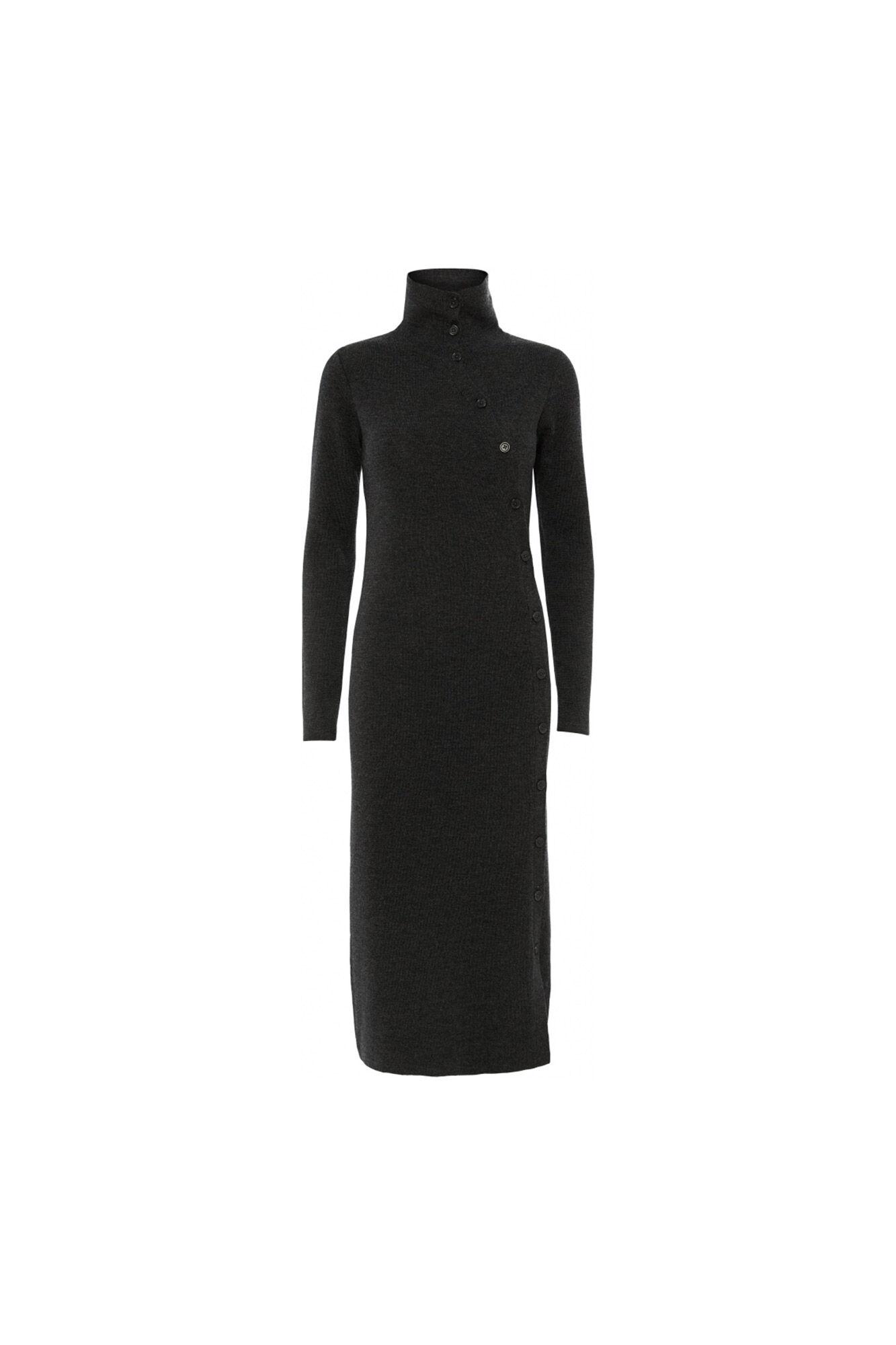 Cyrille knit dress 11861360, DARK GREY MELANGE