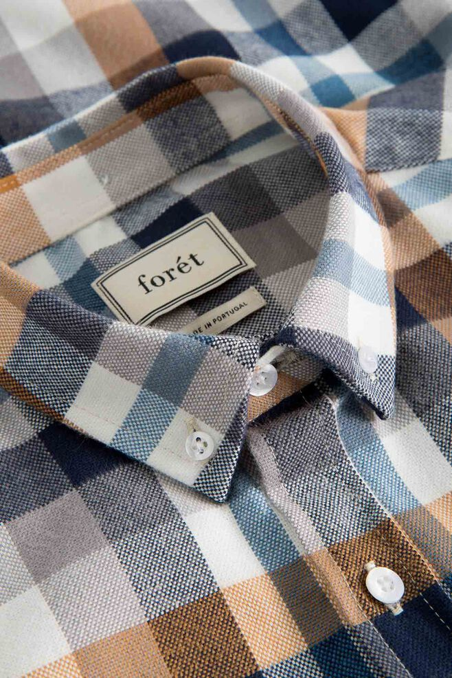 Clay shirt 664, KHAKI/NAVY