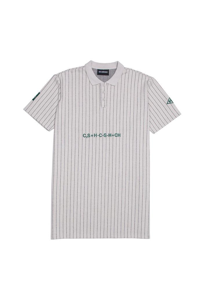 Polo dress F-130005, WHITE PIN STRIPE