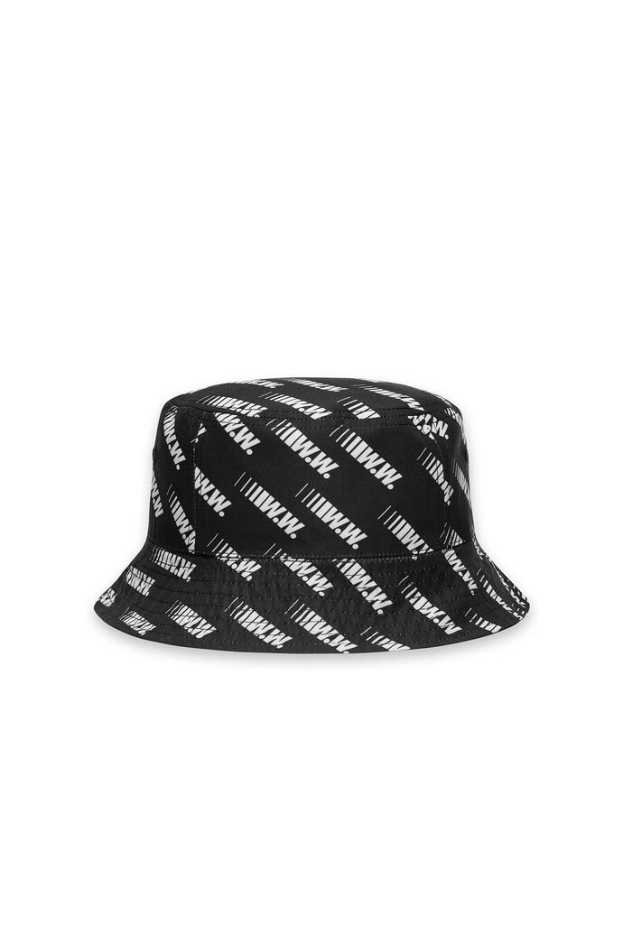 Bucket hat 12010802-9522, BLACK ALL OVER PRINT