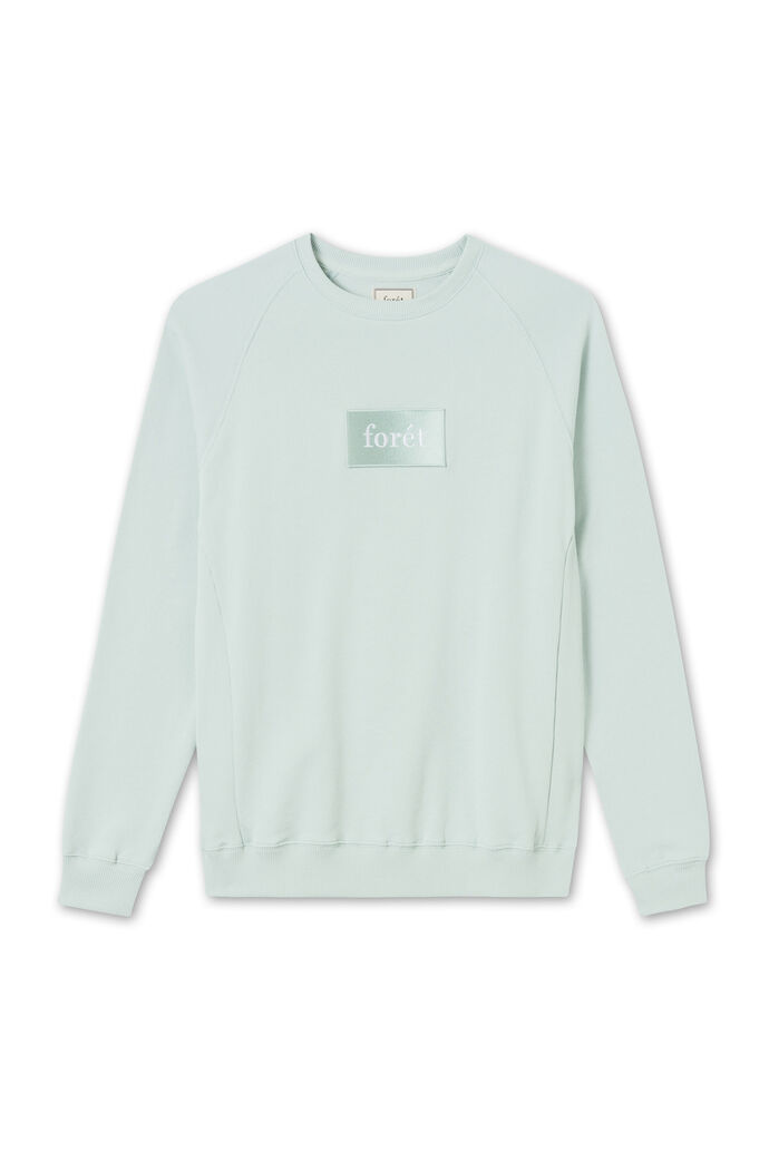Float sweatshirt F101, SAGE GREEN