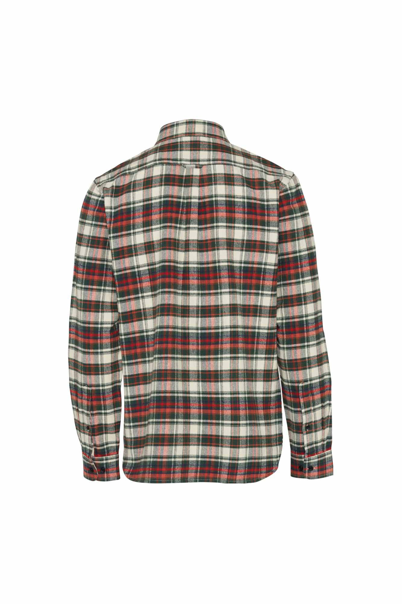 Checked flannel shirt 90772, GREEN FOREST