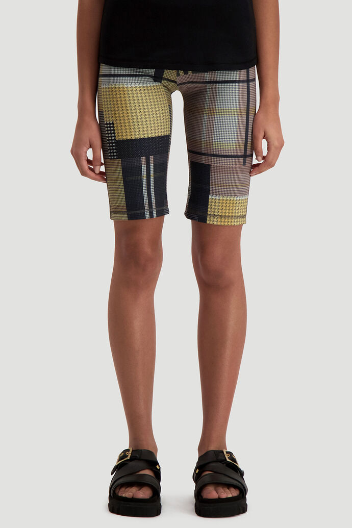 Turtle shorts, YELLOW CHECK