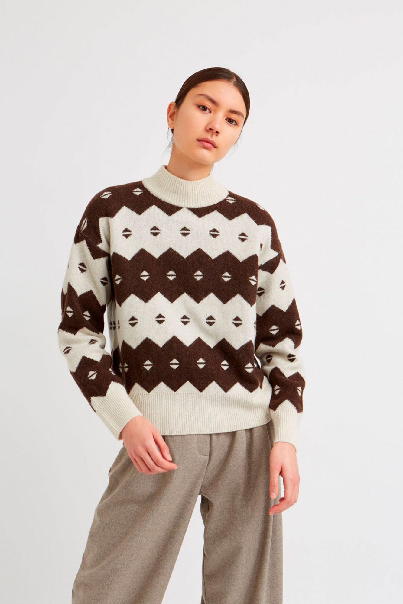Sonia sweater 11931015-4137, OFF-WHITE JACQUARD