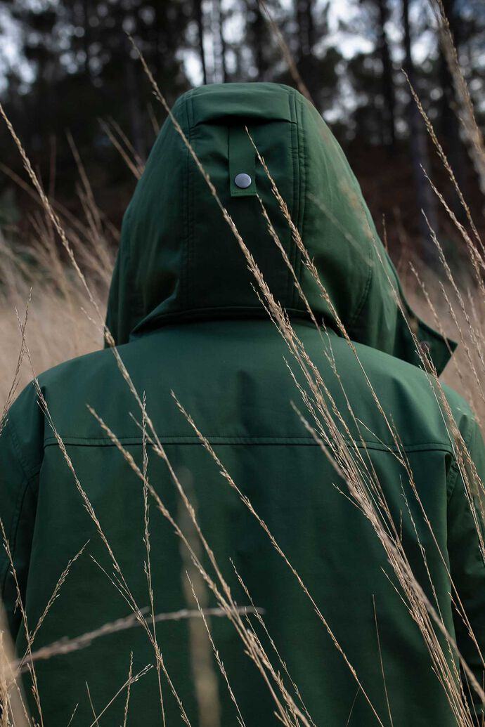 Long soft shell jacket 92373, GREEN FOREST