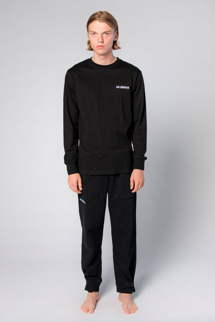 Casual Long Sleeve Tee M-20002, BLACK LOGO