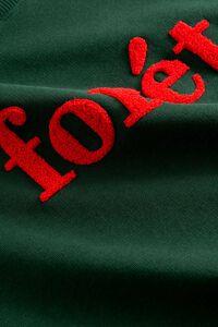 Spruce sweatshirt 638, DARK GREEN/RED