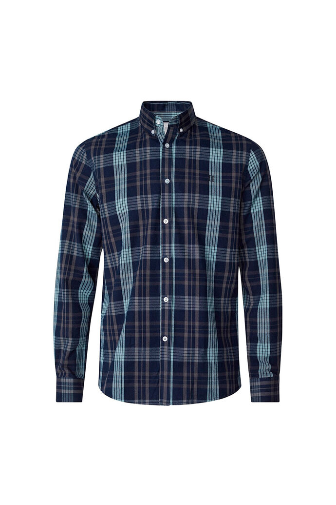 Valence shirt LDM410038, DARK NAVY/PETROL BLUE