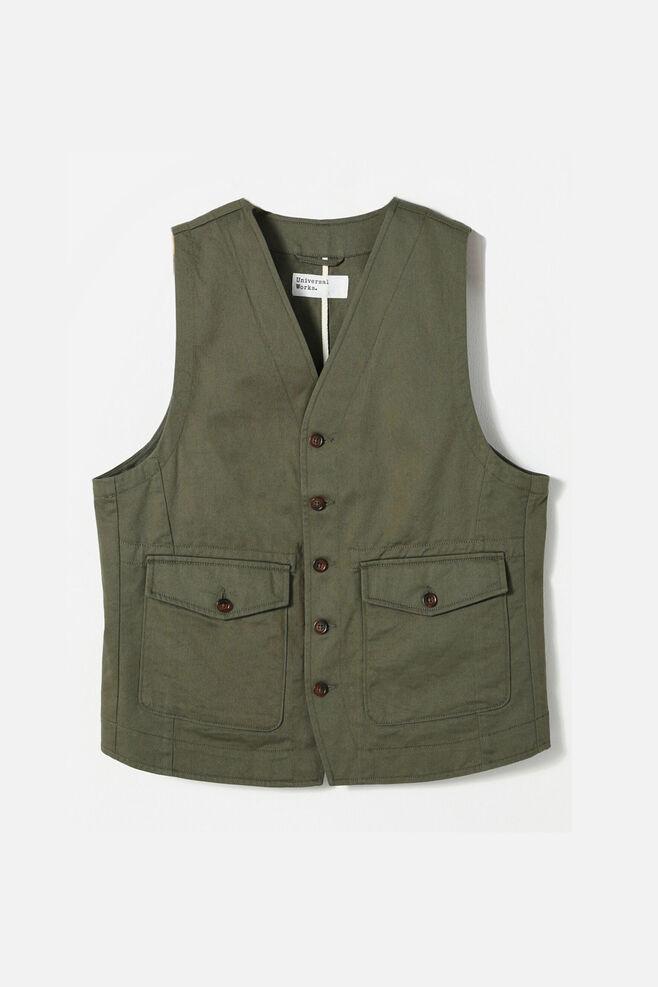 Field waistcoat 00180, OLIVE