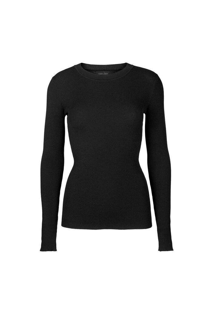 Nap blouse, BLACK