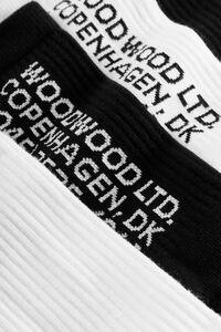 Gail 2-pack sock 11939005-9517, WHITE/BLACK