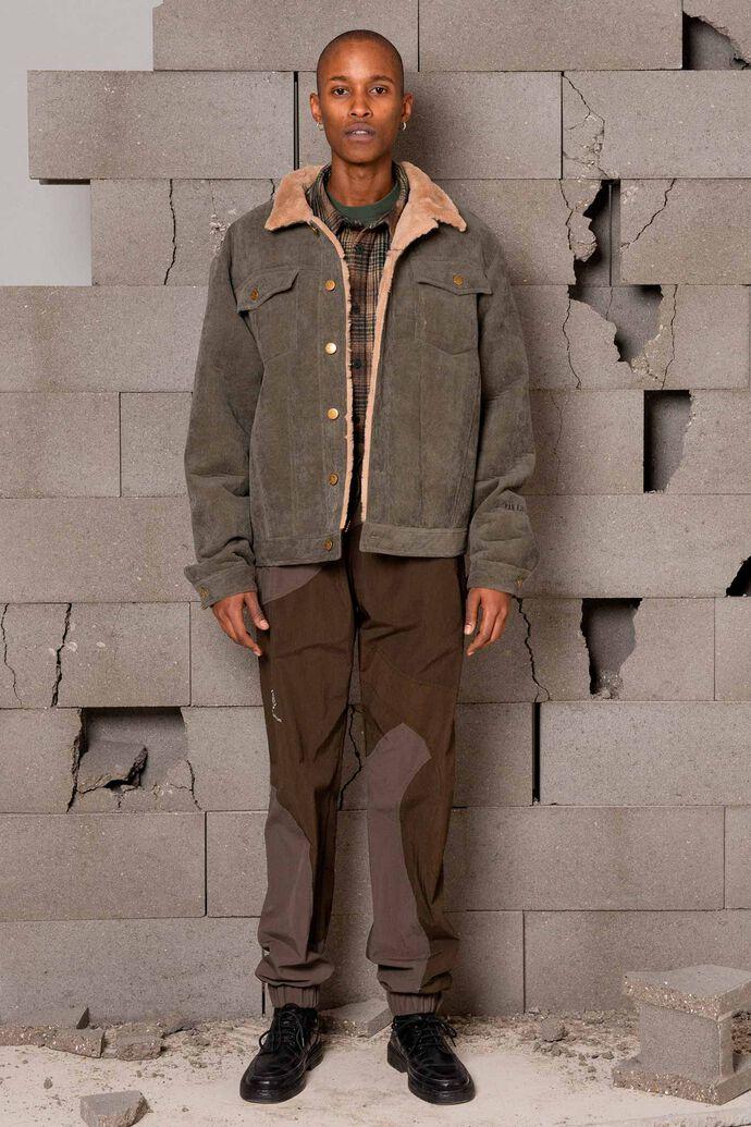 Boxy work jacket M-120087, ARMY CORDUROY
