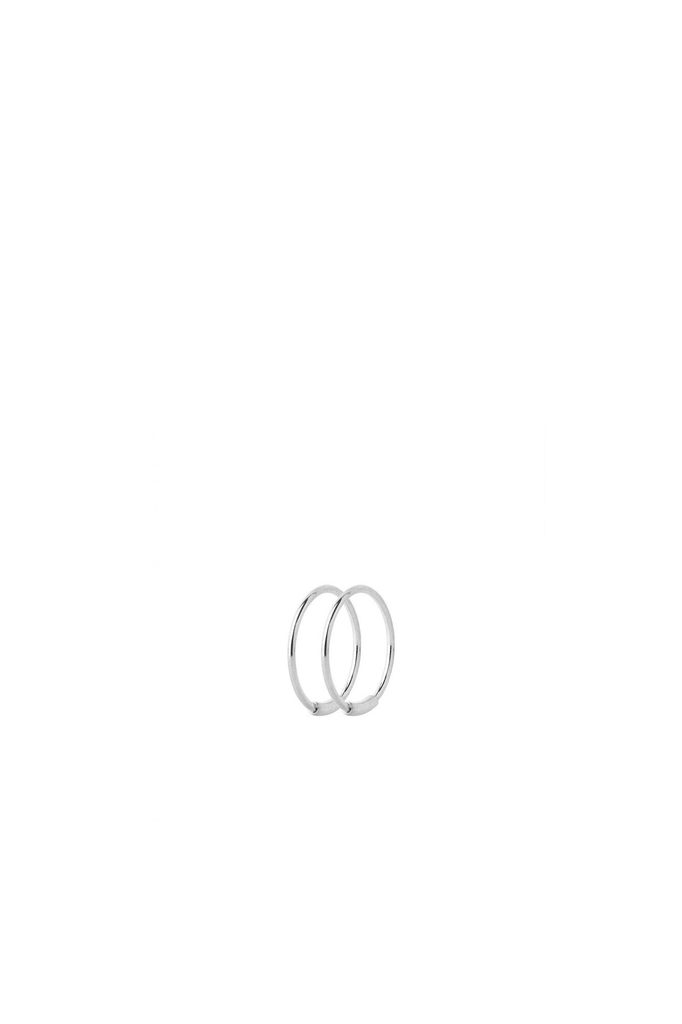 Basic Hoop S Earring 100219, SILVER HP