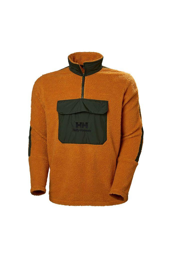 Yu 1/2 zip pile sweater 53385, MARMALADE