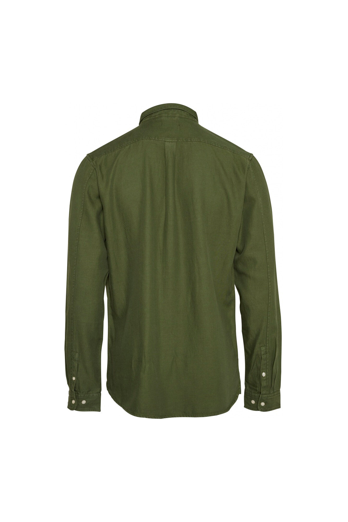 Twill shirt/Vegan 90686, GREEN FOREST
