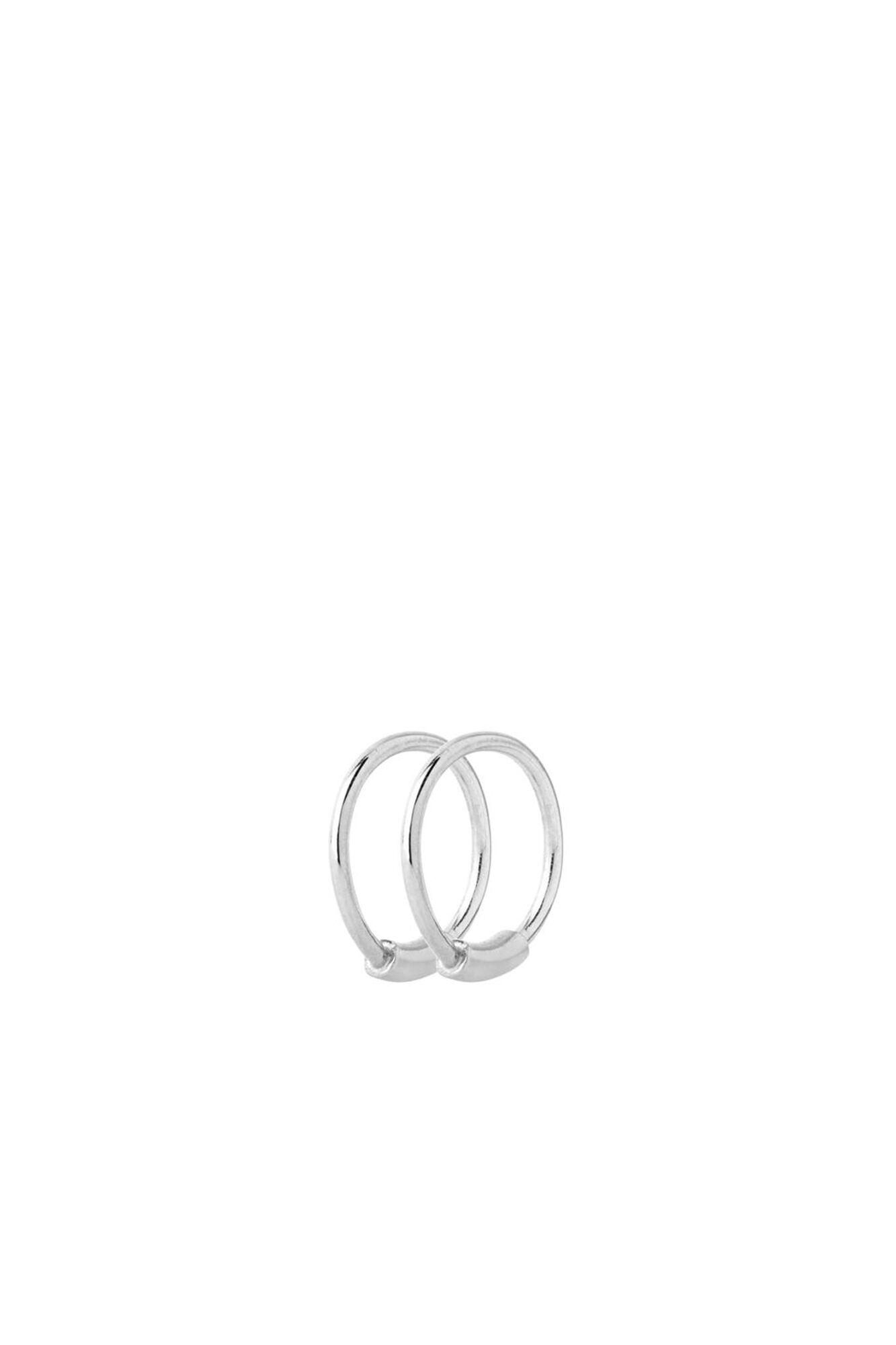 Basic Hoop XS Earring 100214, SILVER HP