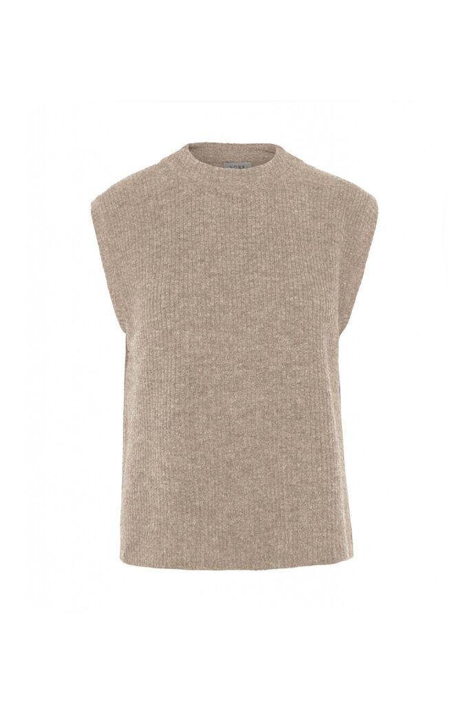 Elisha knit waistcoat 11861362, OAT MELANGE