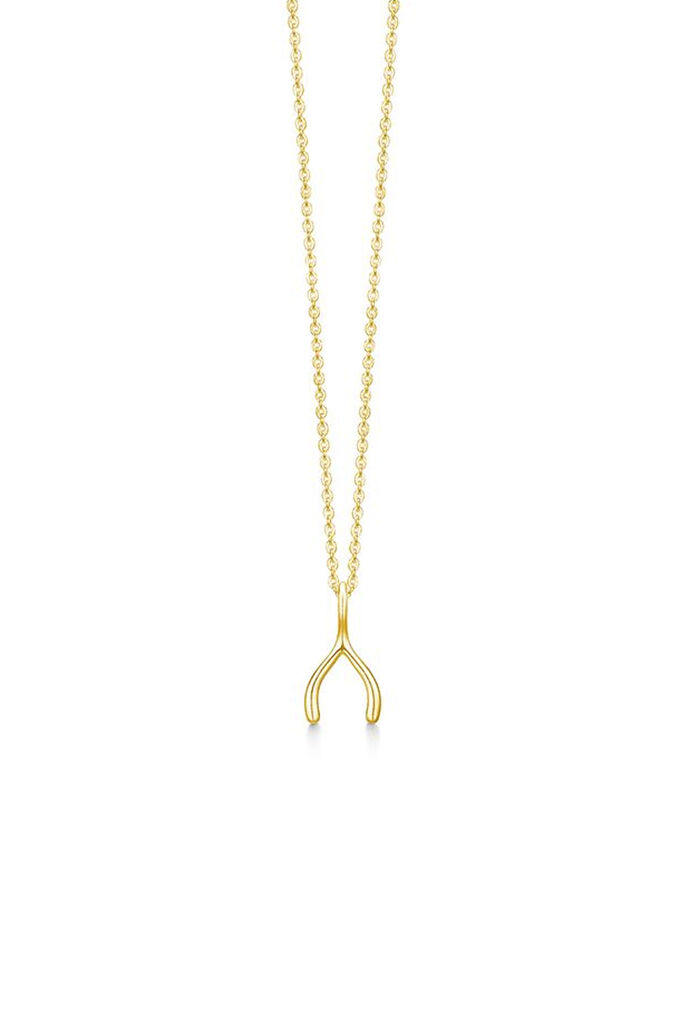Wishbone necklace IDN004GD, GOLD
