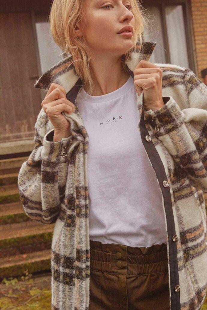 Krista shirt, BEIGE CHECK