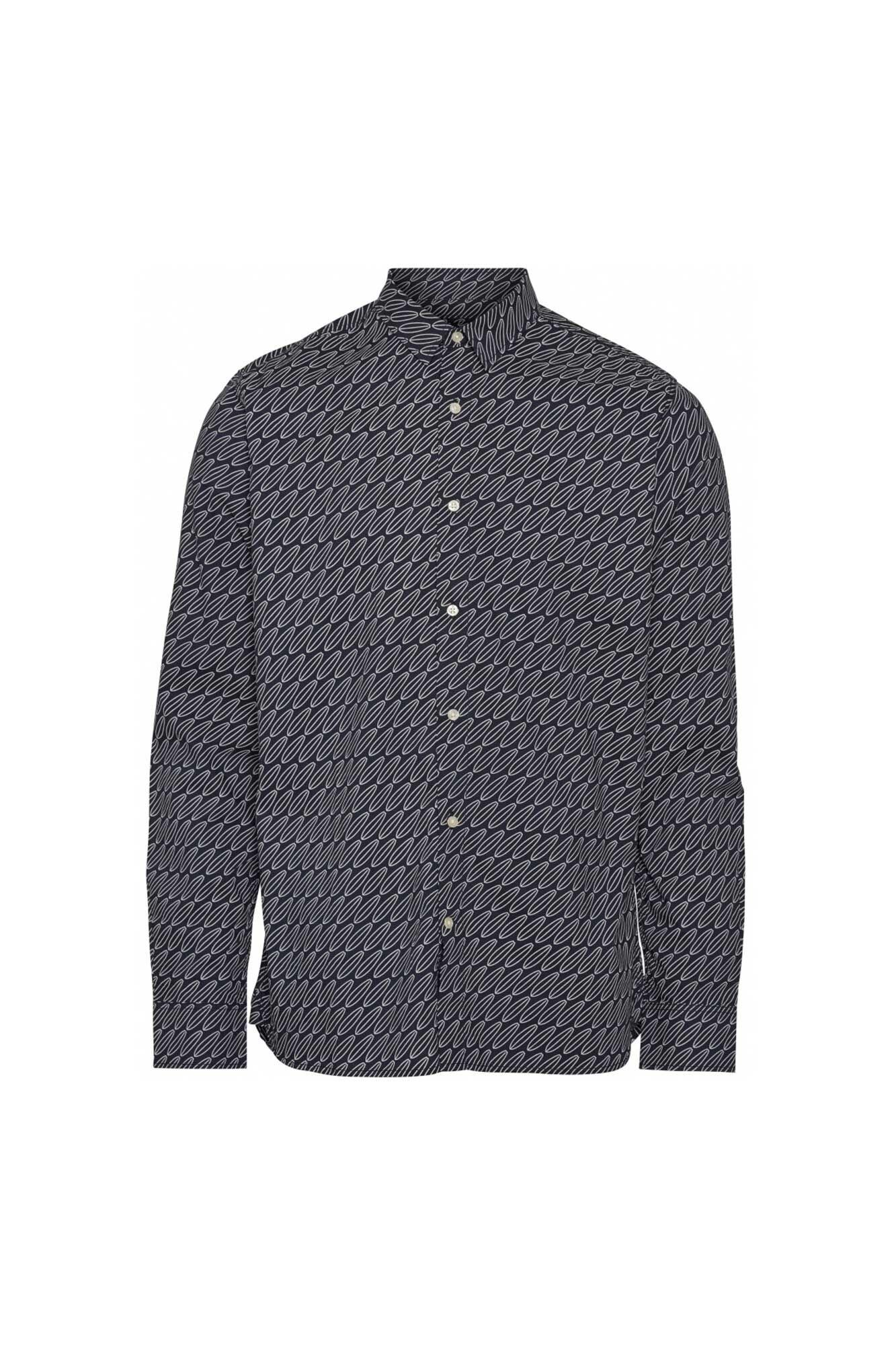 Long sleeve poplin shirt aop