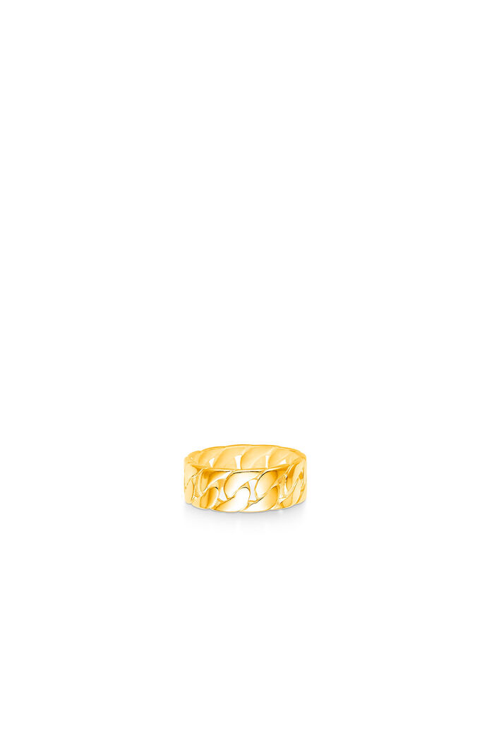 Curb chain ring, GOLD