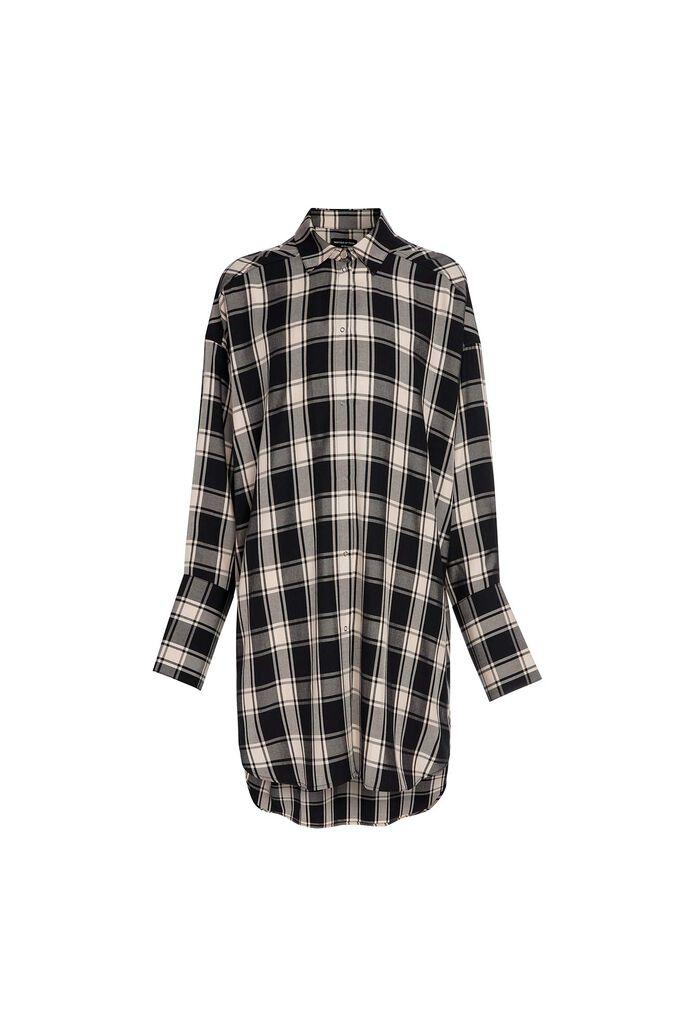 C parker tencel ch shirt dress, BLACK/CREME