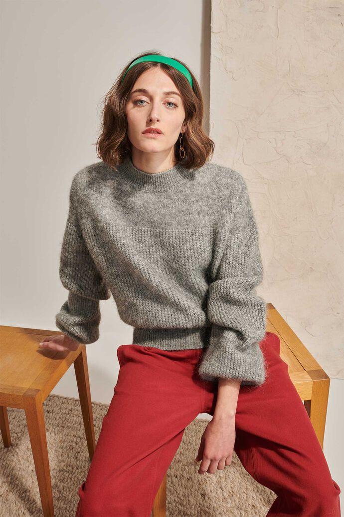 Sissi mohair sweater 02088WS, DARK GREY