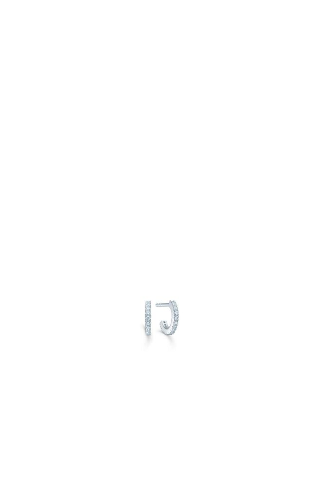 Simplicty mini hoops IDH009RH, RHODIUM/WHITE