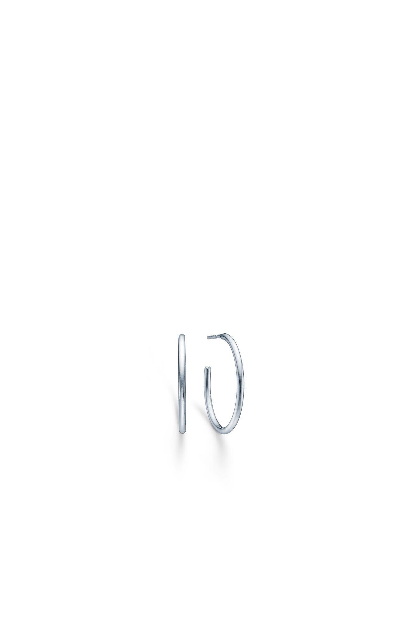 Dash medium hoops IDH025RH, RHODIUM
